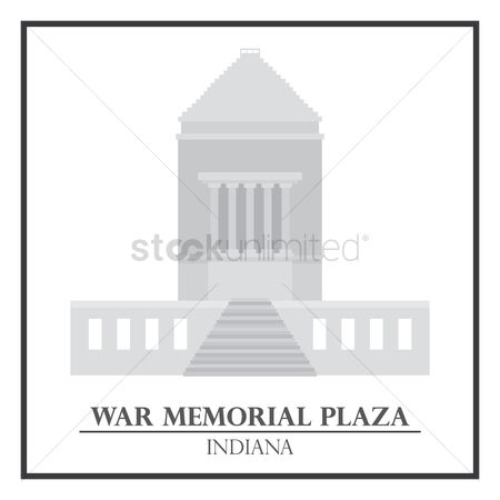 Indiana : War memorial plaza