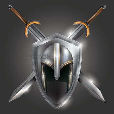 Shield : Warrior helmet with crossed swords