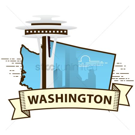 Needle : Washington state map