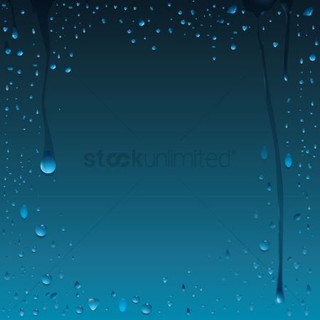 Drippings : Water drops background