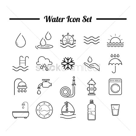 Wheel : Water icon set