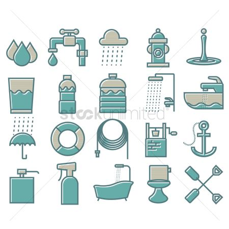 Lifebuoy : Water related icons set