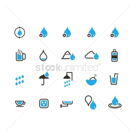 Check mark : Water related icons set