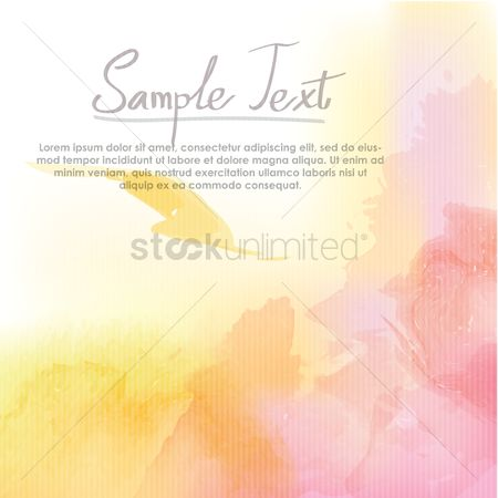 Lorem ipsum : Watercolor background design