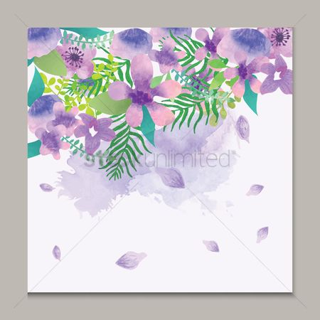 Budding : Watercolor flowers design