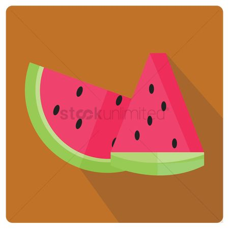 Watermelon slice : Watermelon slices