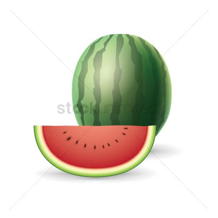 Watermelon slice : Watermelon with slice