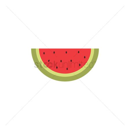 Watermelon slice : Watermelon