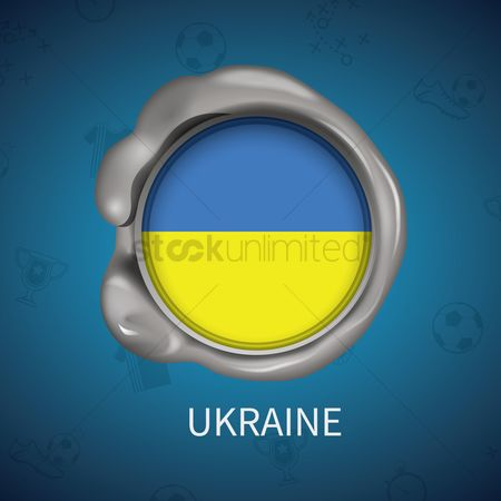 Ukraine : Wax seal of ukraine flag