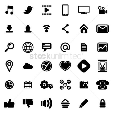 Electronic : Website icon collection