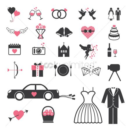 Car : Wedding icons