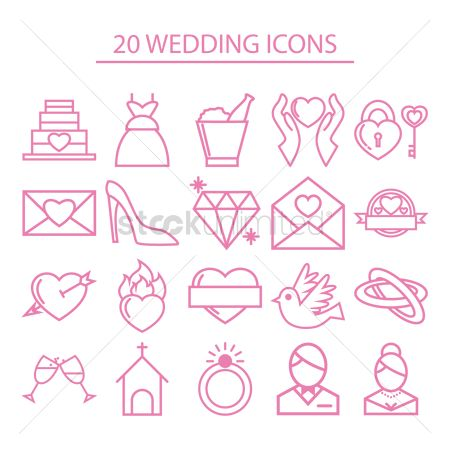 Sets : Wedding icons