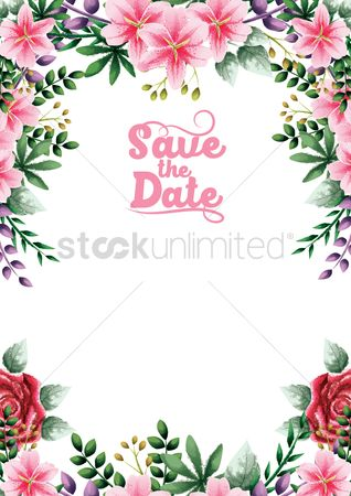 Borders : Wedding invitation design