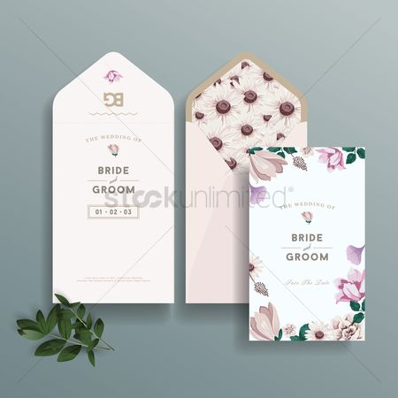 Lady : Wedding invitation design