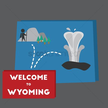 Old faithful : Welcome to wyoming state