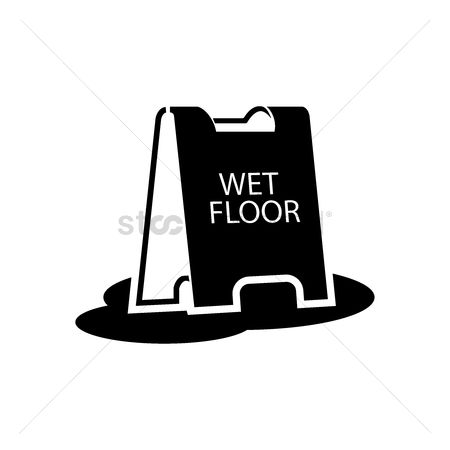 Beware : Wet floor stand