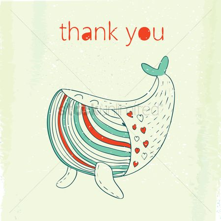 Thankful : Whale text design