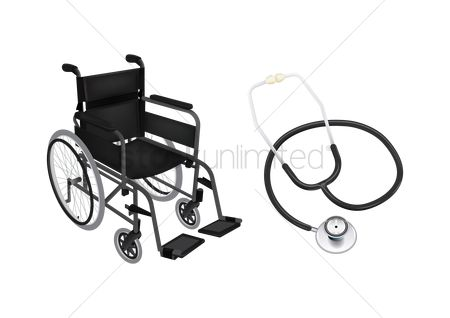 Wheelchair : Wheelchair and stethoscope