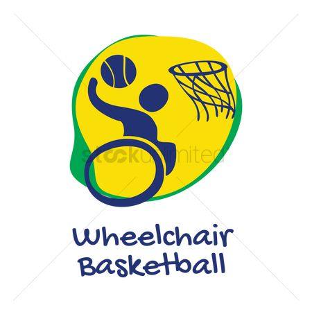 Wheelchair : Wheelchair basketball icon
