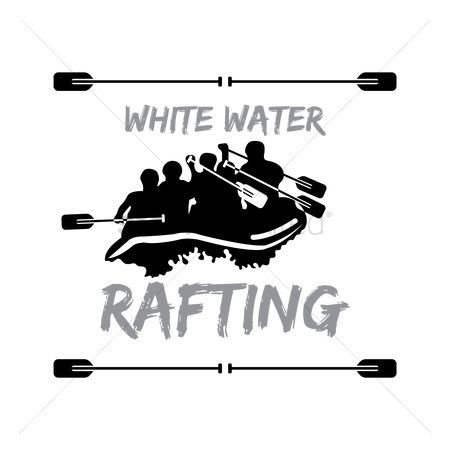 Vectors : White water rafting