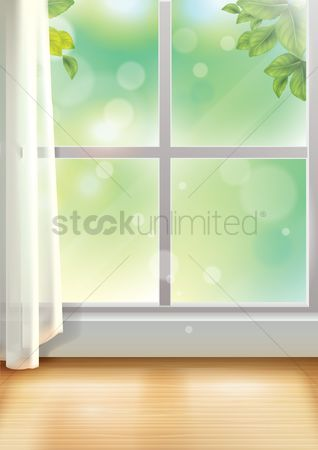 Interior background : Window sill