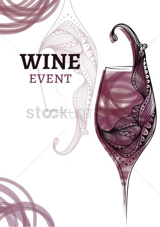Liquor : Wine event poster design