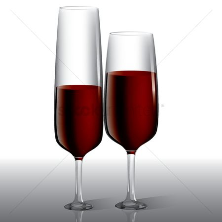 Red wines : Wine glasses