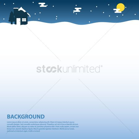 Chimneys : Winter background