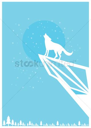 Minimalistic : Wolf poster