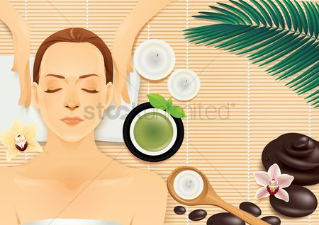 Zen : Woman at spa