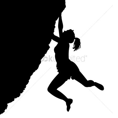 Sports : Woman climbing on mountain