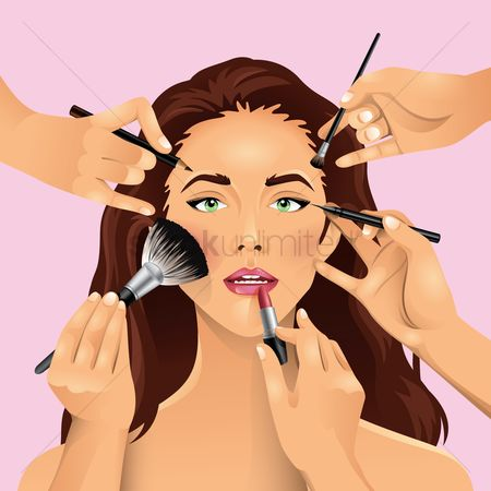 Cosmetic : Woman getting her make up done