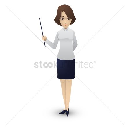 Skirt : Woman holding a pointer