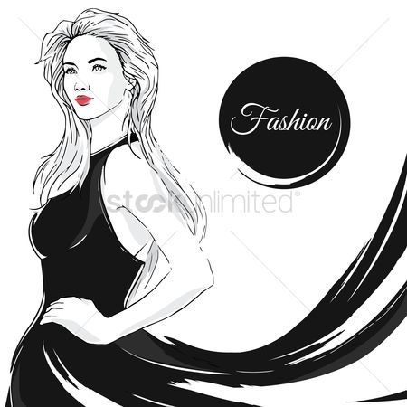 Posing : Woman posing in black gown