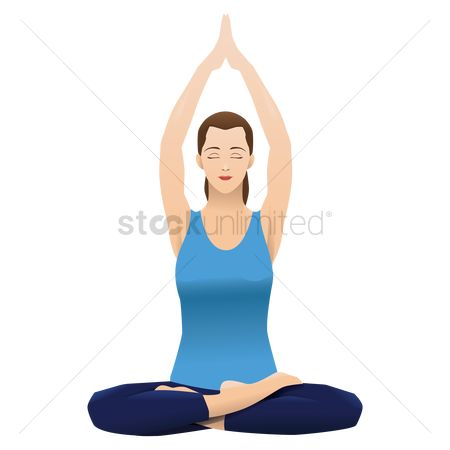 Spirit : Woman practising yoga