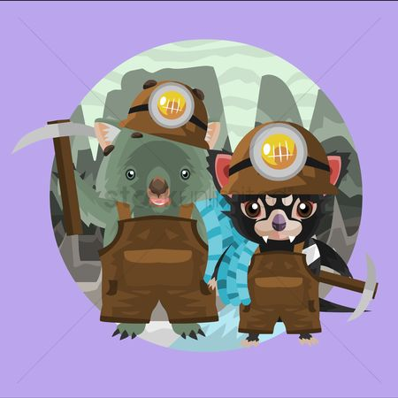 Pick axe : Wombat and tasmanian devil miners