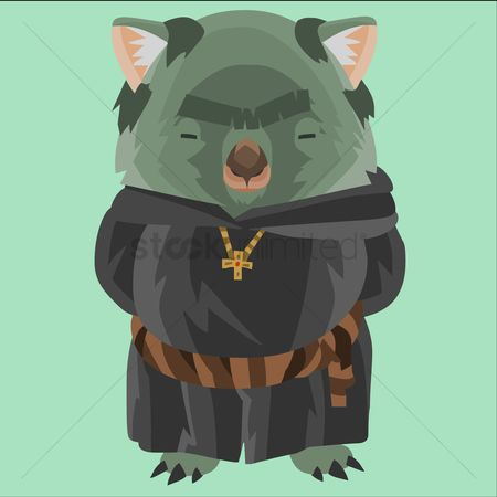 Priest : Wombat as a friar