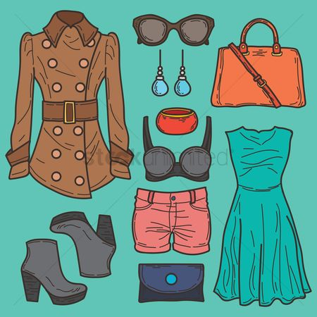 Summer : Women fashion set
