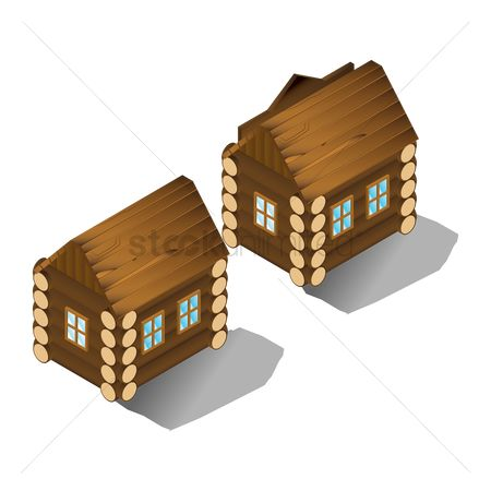 Logs : Wooden houses