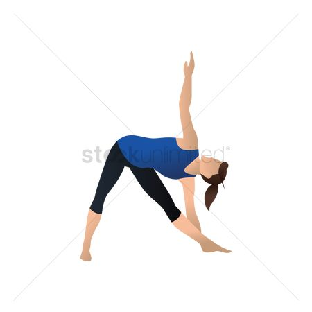 Health cares : Yoga pose extended triangle