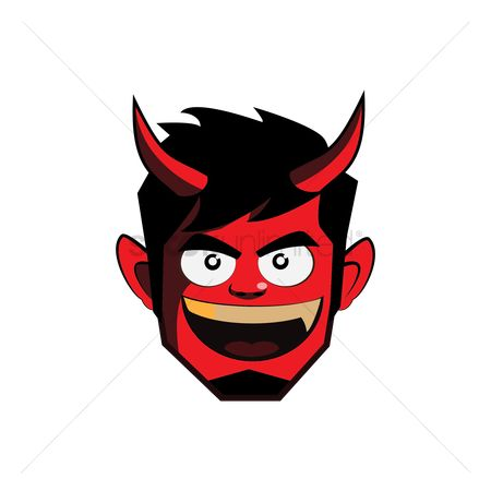 Devils : Young man with devil face