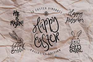 Fancy : Happy Easter Dingbats