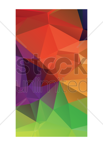 abstract faceted wallpaper vector graphic