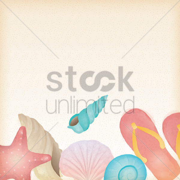 beach themed background vector graphic