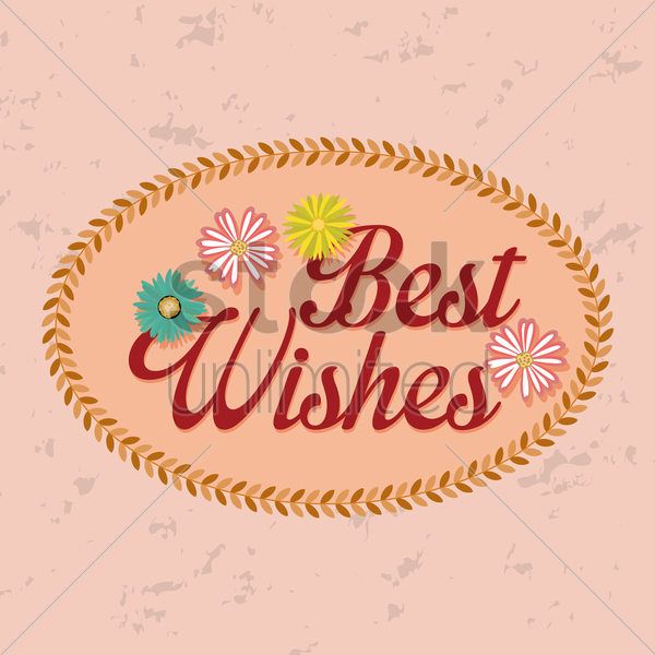 best wishes label vector image 1827395 stockunlimited