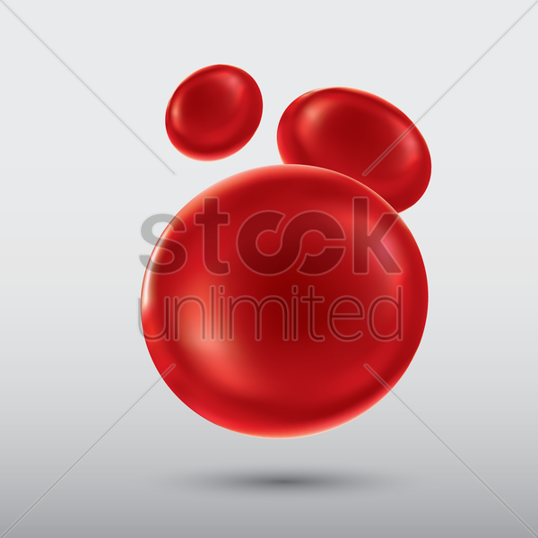 blood cells vector graphic
