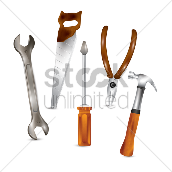 carpentry tools vector graphic