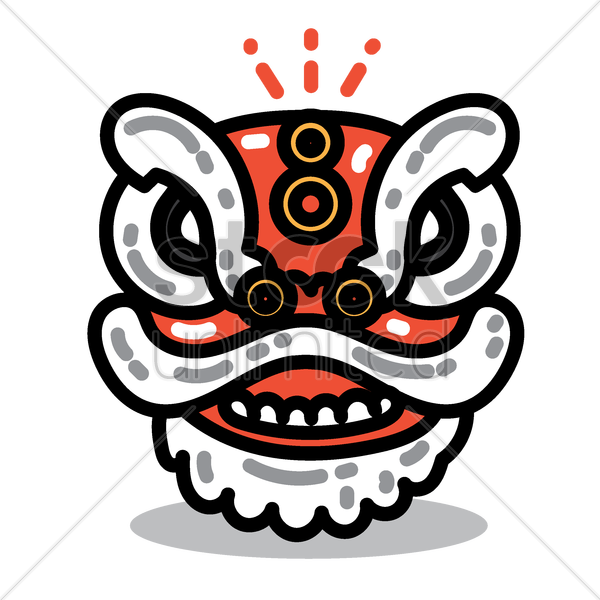 Chinese Lion Dance Head Vector Image 1970603 Stockunlimited
