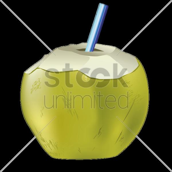Coconut Drink Vector Graphic