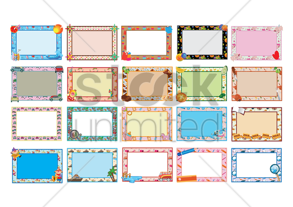collection of template design vector graphic